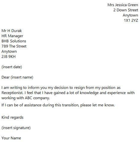 letter of resignation to clients resignation letter format resignation letter to clients
