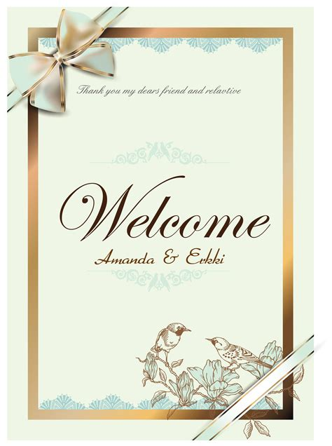 Wedding Card Design In Illustrator by Free Vector About Wedding Card Vector Vector Sources
