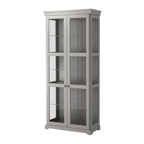 Ikea Liatorp Glass Display Cabinet Liatorp Glass Door Cabinet Gray 37 3 4x84 1 4 Quot Ikea