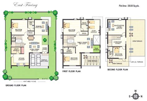 100 yard home design floor plans richmond villas an residential project at
