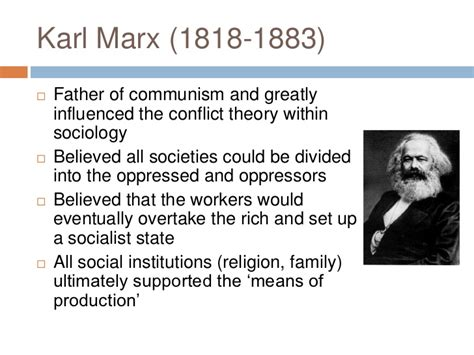 Conflict Theory Essay by Karl Marx Conflict Theory Essay