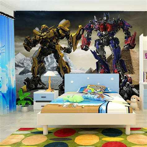 transformers theme boys room wall murals my son would aliexpress com buy free shipping large mural wallpaper