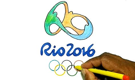 to the olympics how to draw the 2016 olympics logo