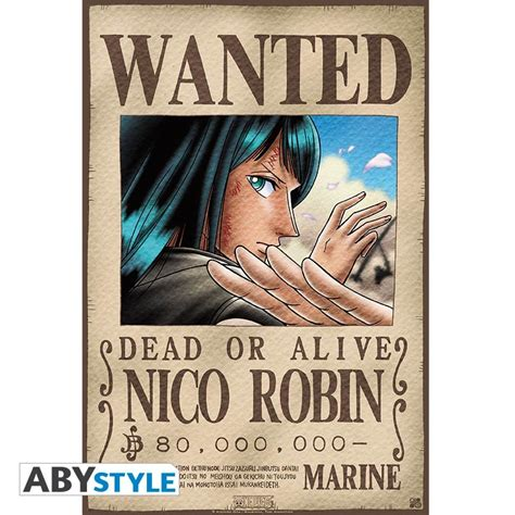 membuat poster wanted one piece one piece poster wanted robin 52x35 abystyle