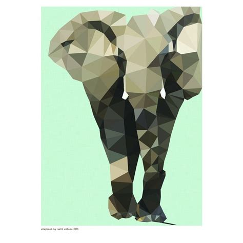 Geometric elephant print