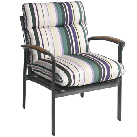 Patio Club Chair by Pia Stripe Outdoor Purple Patio Club Chair Cushion