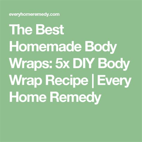 Detox Wrap Recipe by The Best Wraps 5x Diy Wrap Recipe