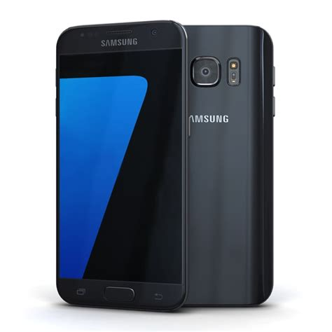 samsung galaxy s7 black 3d model