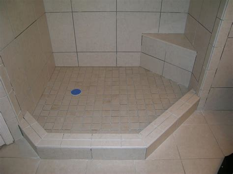 how to tile a shower curb images