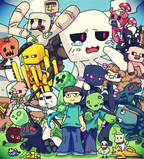 all minecraft mobs drawings 再投稿 マイクラ kage さんのイラスト ニコニコ静画 イラスト