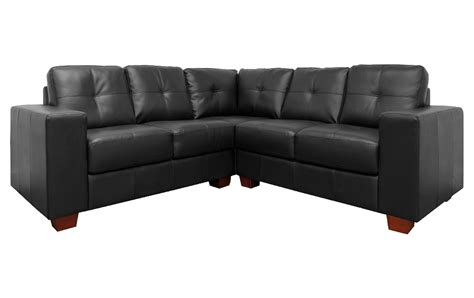 Sale Roma Corner Black Leather Sofa Sofas Couch Suite