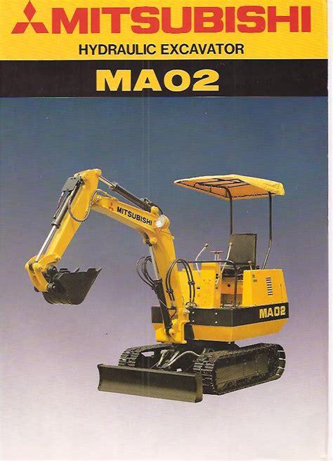 Mitsubishi Excavator Mitsubishi Ma02 Excavator Original Sales Brochure