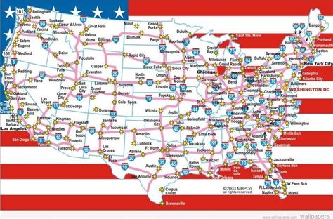 map of roads in usa road map of usa with states and cities partition r