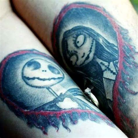 jack and sally couple tattoos 25 geeky tattoos for gamers book nerds