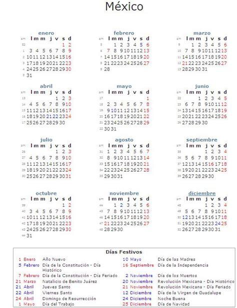 Calendario 2014 Mexico Calendario Laboral 2011 La Economia