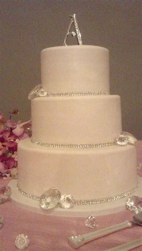 Diamonds are forever  .amazing wedding cake