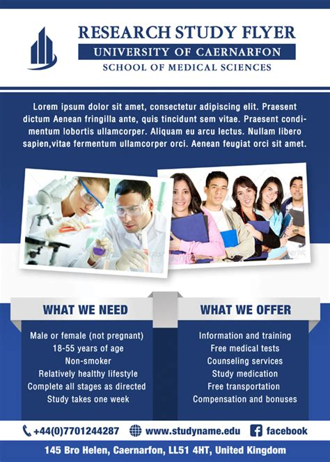 Research Study Flyer Template research study images