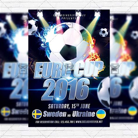 Euro Cup 2016 Premium Flyer Template Instagram Size Flyer Exclsiveflyer Free And Premium Instagram Flyer Template