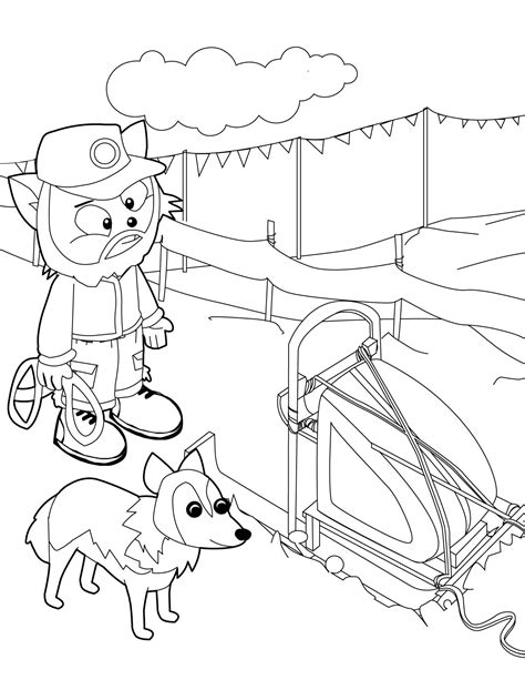 iditarod coloring pages dog sled race coloring pages