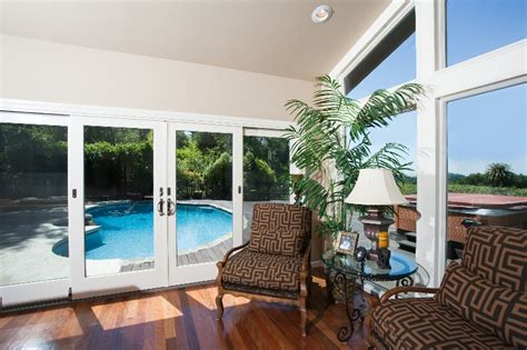 Living Room Pool View Remodeling Room Addition Portfolio Valley Home Builders