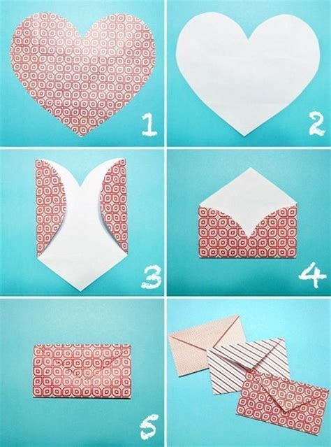 how to make envelopes how to make an envelope from a heart shaped piece of paper