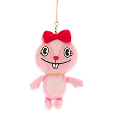 Happy Doll With Phone Blue happy tree friends plush doll cell phone charm giggles cell phones accessories
