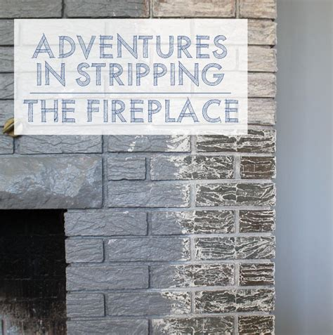 adventures in stripping refinishing fireplace brick