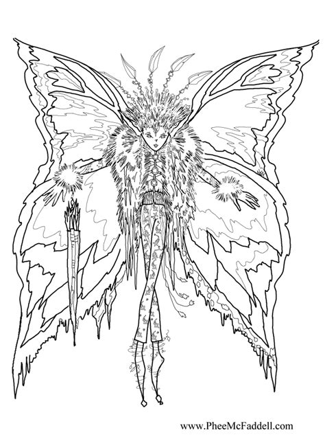 icicle fairy coloring page