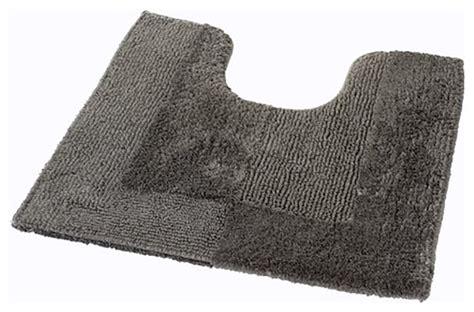 Thick Bathroom Rugs by Vita Futura Slate Gray Thick Plush Reversible Cotton