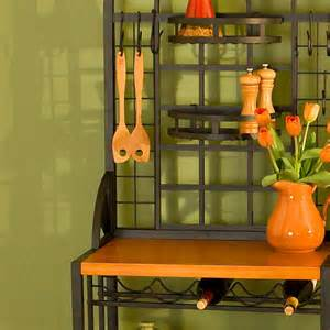 Bakers Rack Ideas Kitchen Quite Bakers Rack Decorating Ideas In Your