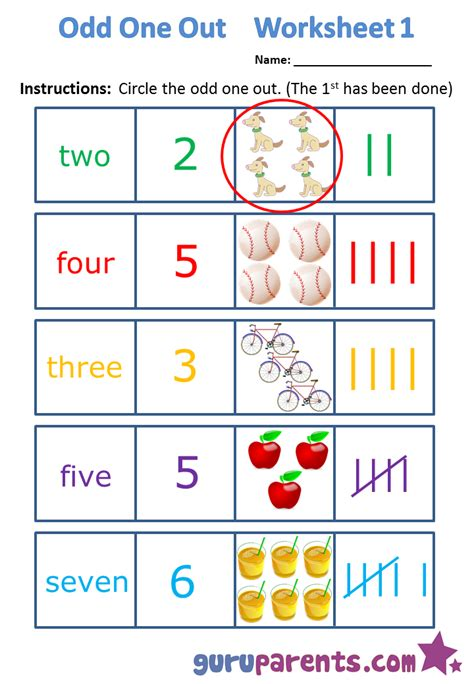 libro the odd one out 100 ideas odd one out worksheets for kids printable on spectaxmas download