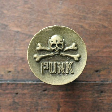 skull and crossbones drawer pulls punk skull small drawer knobs cabinet knobs in brass mk168