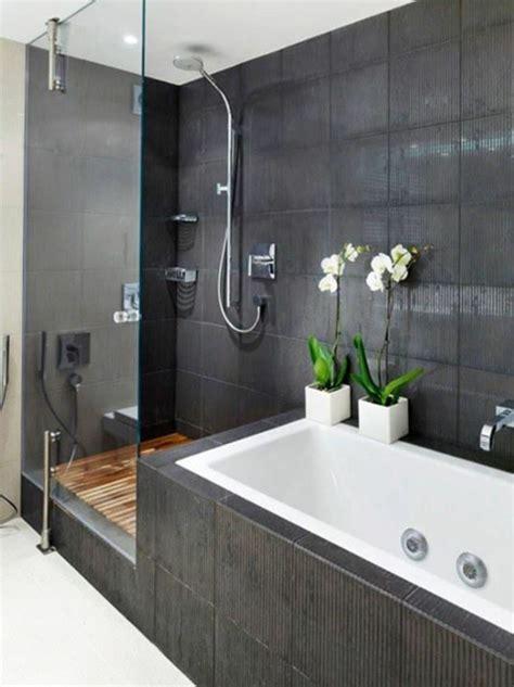 aménager sa salle de bain 1010 couleur mur salle de bain grise et bois