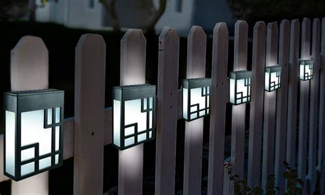 lights of the groupon globrite solar fence lights groupon