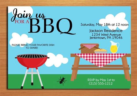 8 best images of summer bbq invitation printable summer