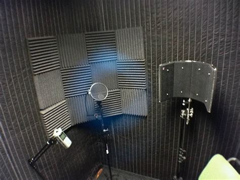 sound absorption for voice recording room cheesycam