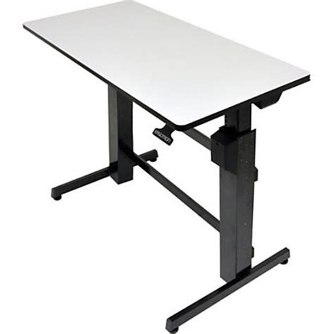 Ergotron Workfit D Sit Stand Desk Light Grey Surface By Stand Up Desk Office Depot