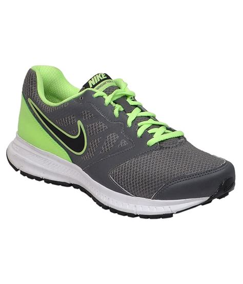 light green nike shoes nike downshifter 6 msl grey and light green sports shoes