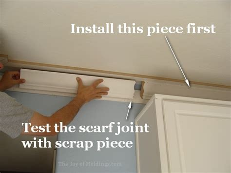 how to install crown molding on top of kitchen cabinets kitchen crown molding installation the last piece goes in