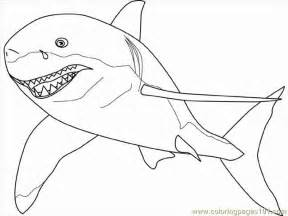 coloring pages white shark fish gt shark free printable coloring