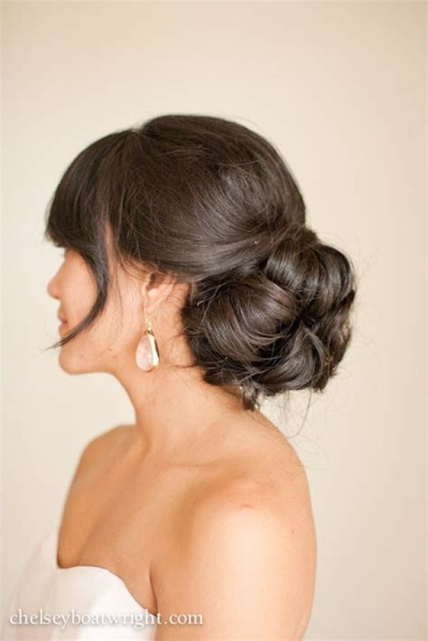 bridal hairstyles low side bun wedding hair ideas for summer bridal hairstyles chwv