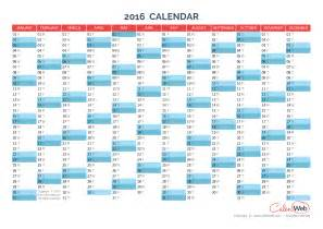 Annual calendar 2016 yearly calendars calenweb com