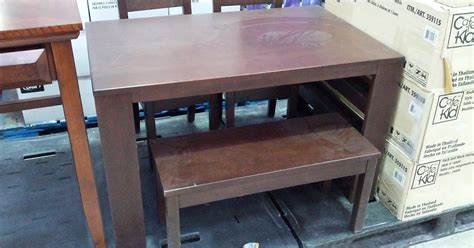 costco bench table cafekid rack and stack table with 2 chairs and bench