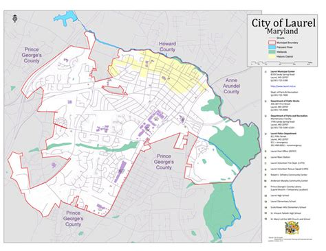 maryland map county boundaries city limits and addresses city of laurel maryland