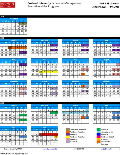 Uni Mba Schedule by Boston Calendar Search Results Calendar 2015