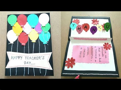 Simple Handmade Teachers Day Cards - diy s day card s day card ideas