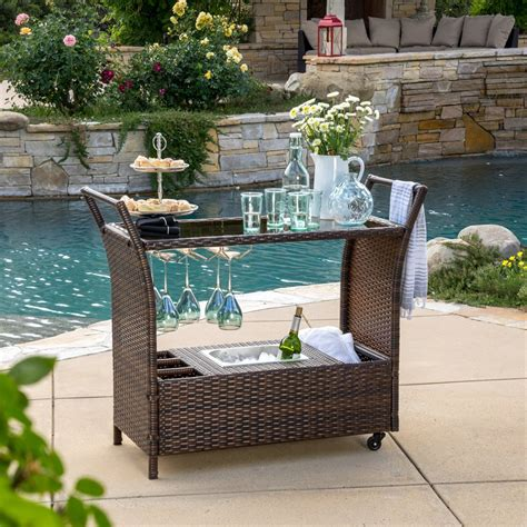 Patio Bar Accessories Best Selling Home Decor Tulum Outdoor Wicker Bar Cart