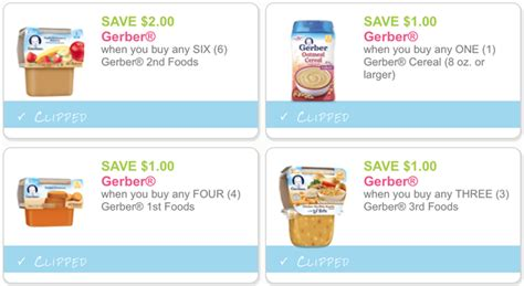gerber baby food printable coupons 2016 four new gerber baby food printable coupons dapper deals