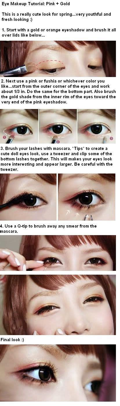 tutorial makeup ulzzang ulzzang korean makeup tutorials and gold eyes on pinterest
