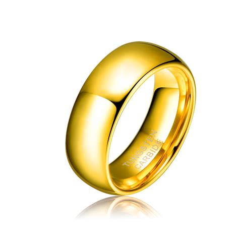 8mm tungsten carbide ring comfort fit jewelry for